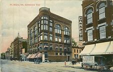 Indiana, IN, Ft Wayne, Commercial Club Postcard Carpet Cleaning Horse & Wagon