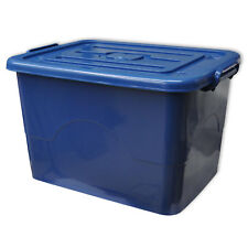 """Wham Clipbox /""""Tough Cart/"""",Organiser 100 Liter,80x40x40cm,mit 2 Räder-blau//grau"""