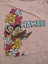 RARE Vintage 1970s Poly Tees HAWAII souvenir T Shirt Small