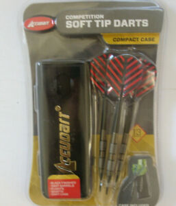 Accudart Competition Soft Tip Darts with Case NEW