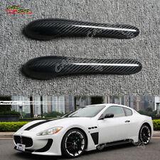 For Maserati GranTurismo MC GT GTS 08-17 Dry Carbon Fiber Door Handle Cover Cap
