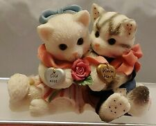 "Collectible Calico Kittens ""Cold Nose Warm Heart"" Enesco No 295442 1997"