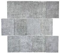 Mosaik Fliese Transluzent Keramik grau Rechteck Glasmosaik WB88J-0202 |1 Matte