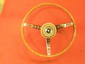1967 Ford Mustang Factory Wood Grained Steering Wheel
