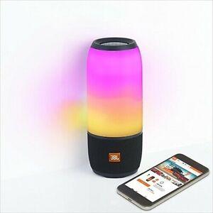 JBL PULSE 3 Black Speaker Bluetooth Multicolor LED Portable IPX7 waterproof NEW