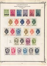 LIECHTENSTEIN 1920's Stamp Collection - CV $56 - Mint & Used Lot on Album Pages