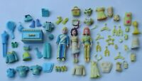 Polly Pocket Dolls and Accessories Yellow and Aqua Clothing