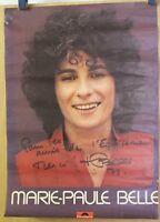 Affiche Originale dédicacée ✤ Marie-Paule BELLE ✤ Polydor ✤ 1978