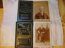 Antique Cabinet Photo Picture Remembrance Funeral Cards Doctor Young Man