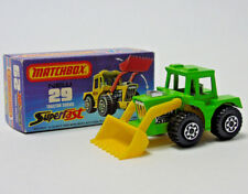 No.29 1976 Matchbox Superfast Lesney Tracteur Vert Pelle 1:64 Echelle en Boîte