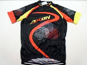 AXON Bright Red/Black CYCLING JERSEY Bike Gym Shirt Size Adult L New
