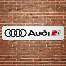Audi Banner Garage Workshop PVC Sign Trackside Motorsport Car Display