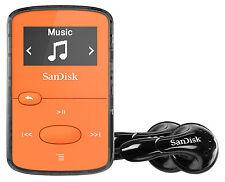 Sandisk Sansa Clip Jam reproductor 8GB MP3 con radio FM, SDMX26-008G, Naranja