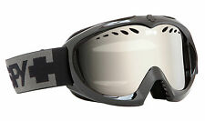 SPY Optic Targa Mini Youth Ski Goggles Black Frame Bronze Silver Mirror Lens