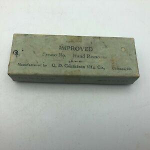 Vintage Empty Box Presto Hand Remover Watchmaker Tool Gustafson Mfg. Chicago  U6