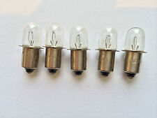 DeWALT 18V 0.6A WORK LIGHT FLASHLIGHT BULB  LOT OF 5 BULBS REPLACES DW9083