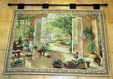 French Doors Garden Room Tapestry Wall Hanging
