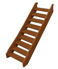 EZI-STEP MERBAU TIMBER STAIR KIT - 9 X STEP COMPLETE WITH TREADS AND SCREWS