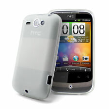 Blanco Gel funda para HTC Wildfire