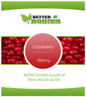 Cranberry 5000mg Tablets Cystitis Urinary Bladder Health Supplement UK