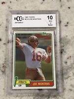 1981 Topps Football #216 Joe Montana HOF SF 49ers Graded 10 Beckett Rookie RC