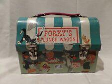 """PORKY'S LUNCH WAGON""  1959 DOMED LUNCH BOX--VINTAGE--HALLMARK SCHOOL DAYS-WARNE"