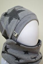 Beanie-Mütze + Loop-Schal Neu, Baby, Kind,Gr. 42-45-47-49-50-52-53-55 grau Junge