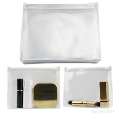 Woman Clear Transparent Plastic PVC Travel Cosmetic Make Up Toiletry Bag dhkz