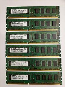 Elpida 4GB (6x1GB) 1Rx8 PC3-8500U 1066Mhz DDR3 RAM Memory EBJ10UE8BAFA-AE-E