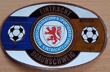 Schöner alter Aufkleber 70er Jahre  EINTRACHT Braunschweig Fussball FAN Ultras
