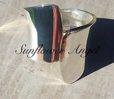 Stunning cuff, highly polished, wide silver bangle.