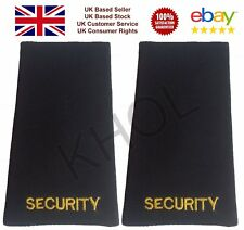 Woven Security Epaulette Slider Black Epaulettes With Gold Embroidery Slides