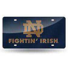Notre Dame Fighting Irish License Plate Acrylic Laser Cut Auto Tag LZC