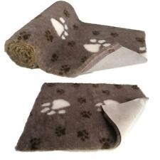 Chocolate Brown Large White Paw  High Grade Vet Bedding Non-Slip back Bed Fleece