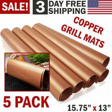 Copper Grill Mats Baking Mats Non Stick Bbq  0000183E Mat Pad Bake Cooking Sheet Liner