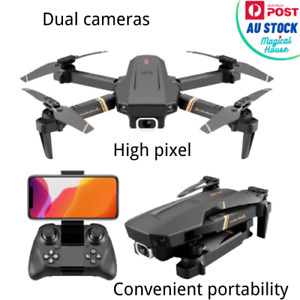 V4 Rc Drone 4k HD Wide Angle Camera Drone Dual Camera Dircraft  Helicopter Toys