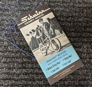 SCHWINN 1967 Bicycle 3 Speed Stingray Owners Manual - Original New Old Stock