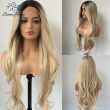 Synthetic Lace Front Wigs Blonde Long Natural Wavy Hair Cosplay Hair Wigs