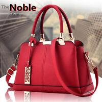 Women Leather Handbag Shoulder Bag Crossbody Messenger Travel Satchel Tote Purse