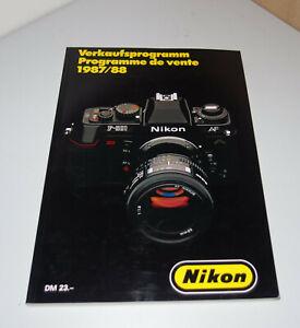 Nikon Kamera camera Objektiv lens Fernglas Mikroskop Verkaufsprogramm 1987/88