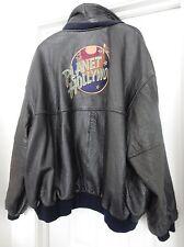 PLANET HOLLYWOOD Original PHI Jacket Coat Bomber Biker Reverse Black 4 XL VTG