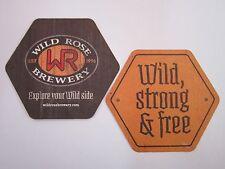 Beer Breweriana Coaster: WILD ROSE Brewery ~ Calgary, Alberta, CANADA Since 1996