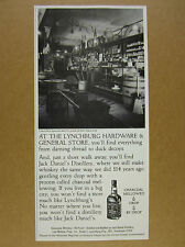 1981 Jack Daniel's lynchburg hardware & general store photo vintage print Ad