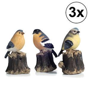 3erSet Bewegungsmelder Bewegungssensor Vogel zwitschern Garten bunt 5.5x10x6.5cm