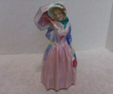 Royal Doulton Miss Demure Hn 1402 Green Stamp Figurine Excellent Condition