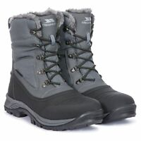 Trespass  Negev II Mens Waterproof Snowboots Leather Winter Boots in Grey