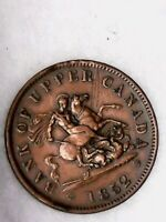 1852 Penny Bank of Upper Canada Token - Ontario