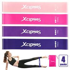 Resistance Band Loop Set Womens - Glutes| Yoga | Pilates | Gym | Exercise Bands