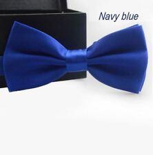 Cravate Homme Garçon Noeud Papillon mariage couleur Bleu Foncé