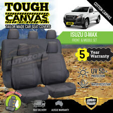 Canvas Seat Covers for Isuzu D-Max Dmax Dual Cab 06/2012 - On Front & Rear